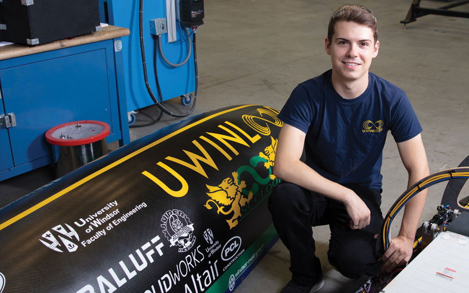 Mechanical Engineering student and his capstone project